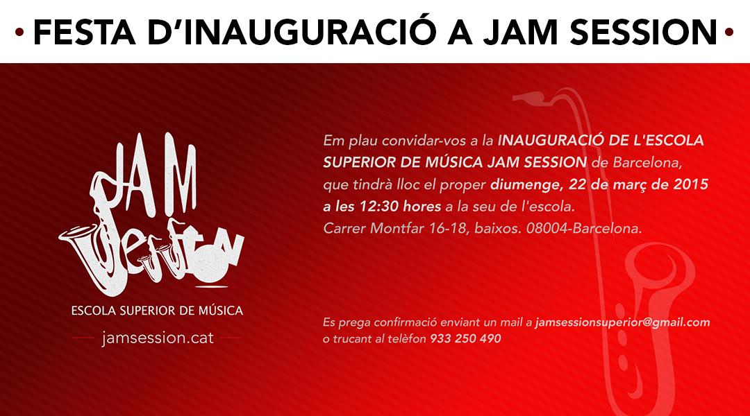 GRAN FESTA D'INAUGURACIÓ DE JAM SESSION