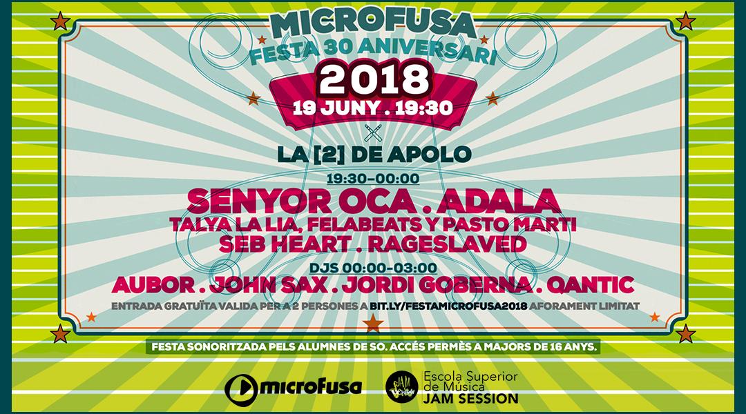 JUNE 19  ✪  30th ANNIVERSARY OF MICROFUSA – LA [2] DE APOLO
