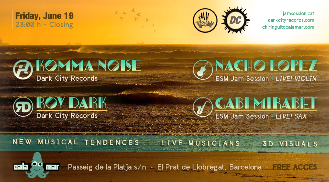 19 JUNY  ▪️   ESM JAM SESSION & DARK CITY RECORDS – CALAMAR