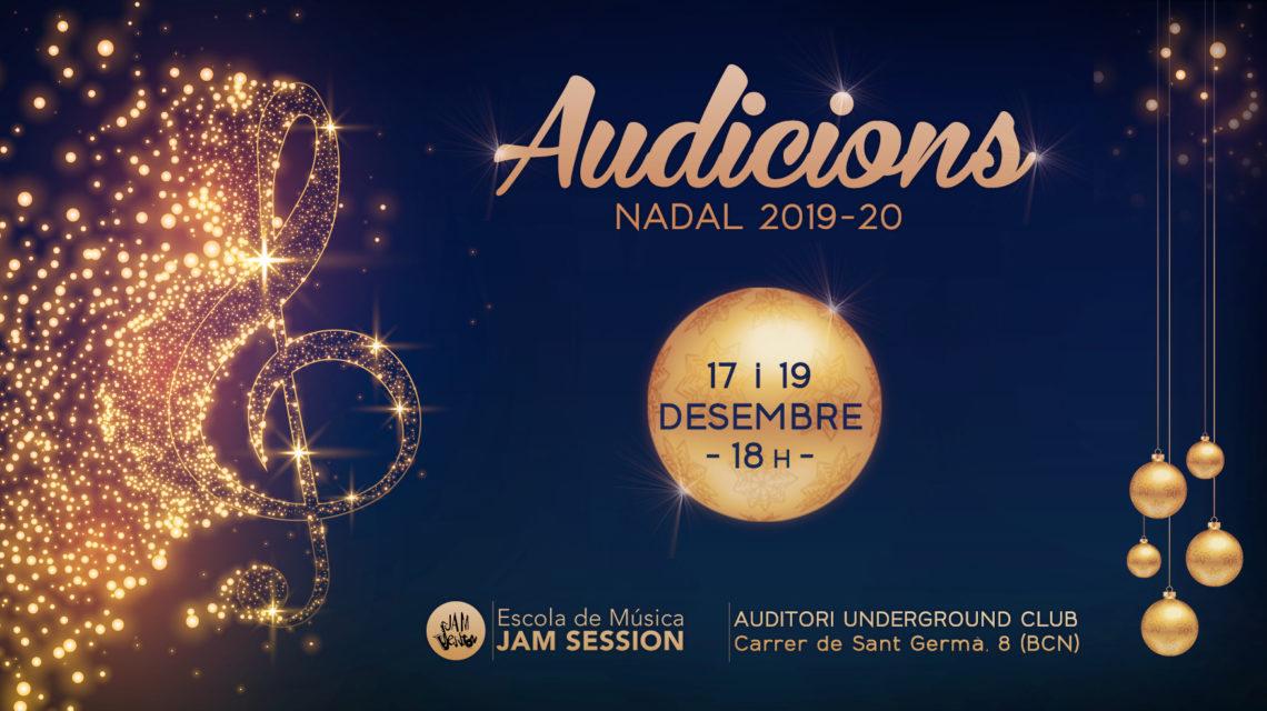 17 Y 19 DICIEMBRE  ✪  AUDICIONES DE NAVIDAD 2019-20 (Escuela de Música)