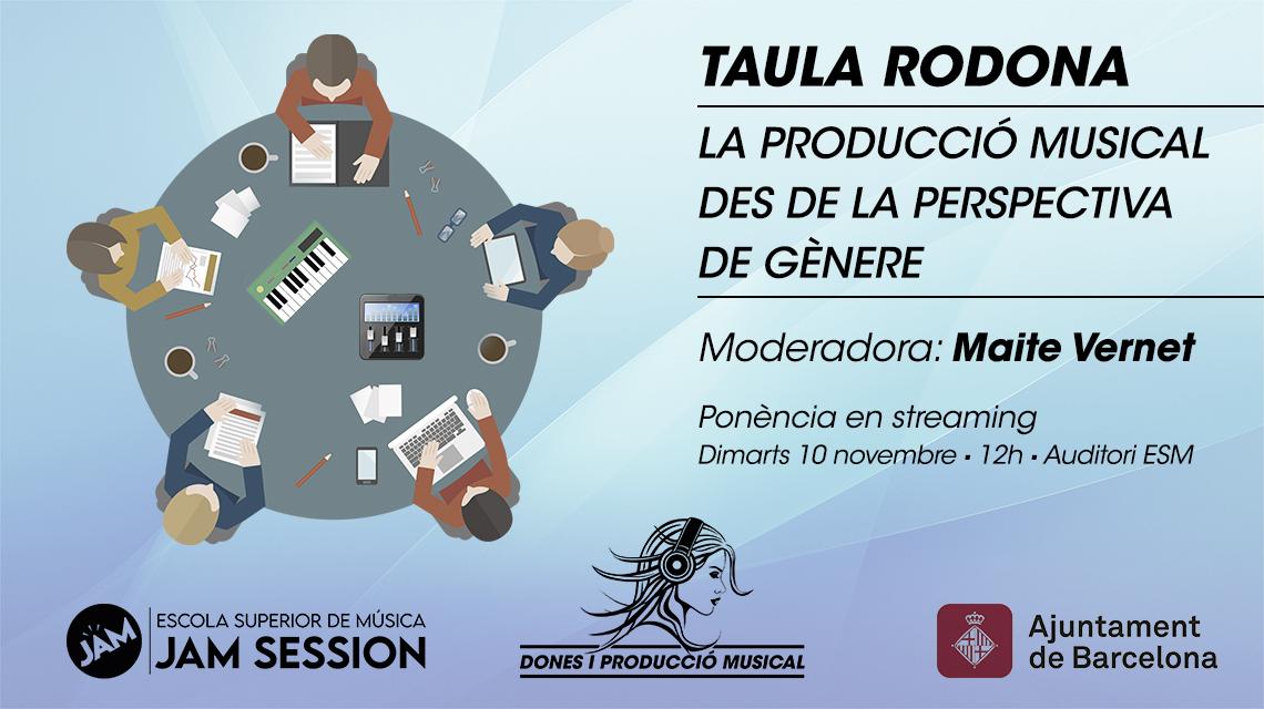 10 DE NOVEMBRE  ✪  LA PRODUCCIÓ MUSICAL DES DE LA PERSPECTIVA DE GÈNERE