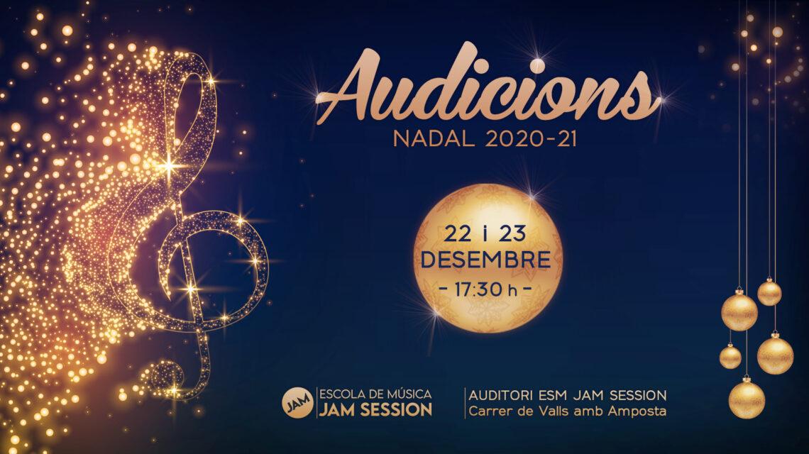 22 Y 23 DICIEMBRE  ✪  AUDICIONES DE NAVIDAD 2020-21 (Escuela de Música)
