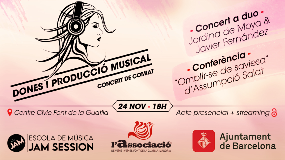 24 DE NOVEMBRE  ✪  CONCERT DE COMIAT – DONES I PRODUCCIÓ MUSICAL