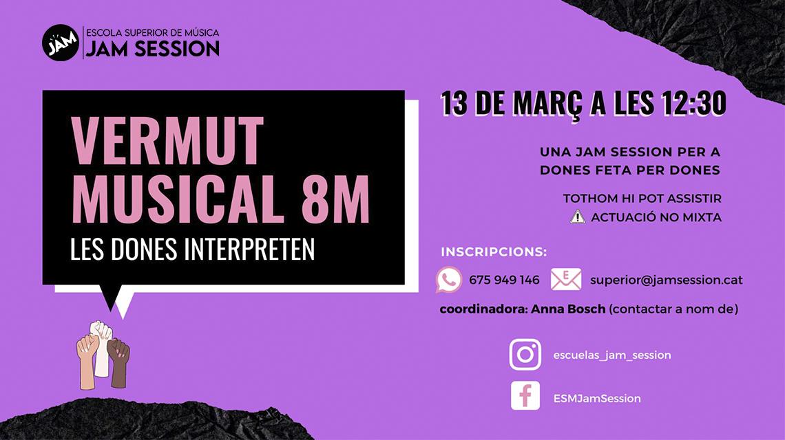 13 MARÇ  ✪  VERMUT MUSICAL 8M – LAS DONES INTERPRETEN