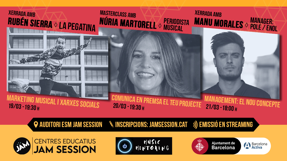 MARCH 19-20-21   ✪  MUSIC MENTORING & JAM SESSION [TALKS AND MASTERCLASS]