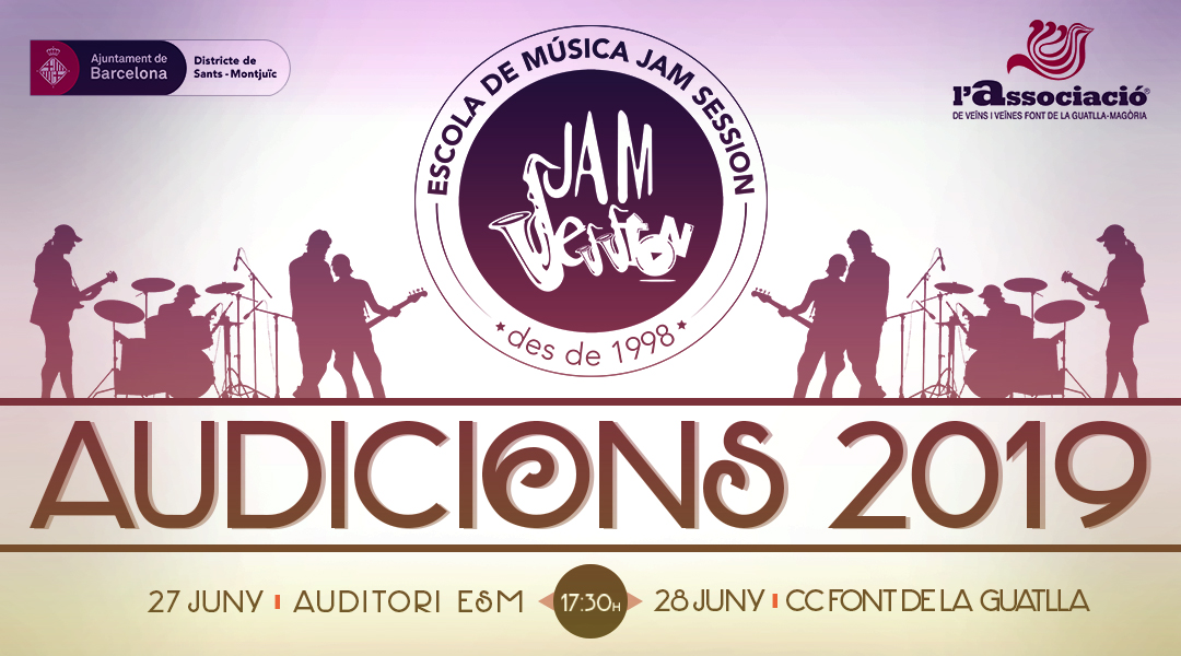 JUNE 27 & 28  ✪  AUDITIONS 2019 (Music School)