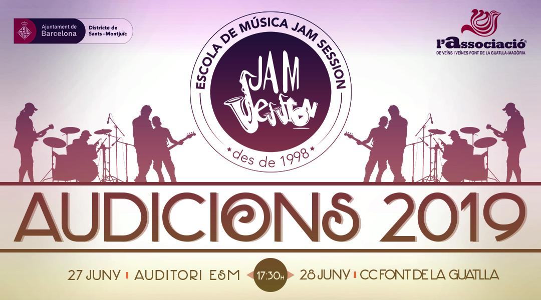 27 Y 28 DE JUNIO  ✪  AUDICIONES 2019 (Escola de Música)