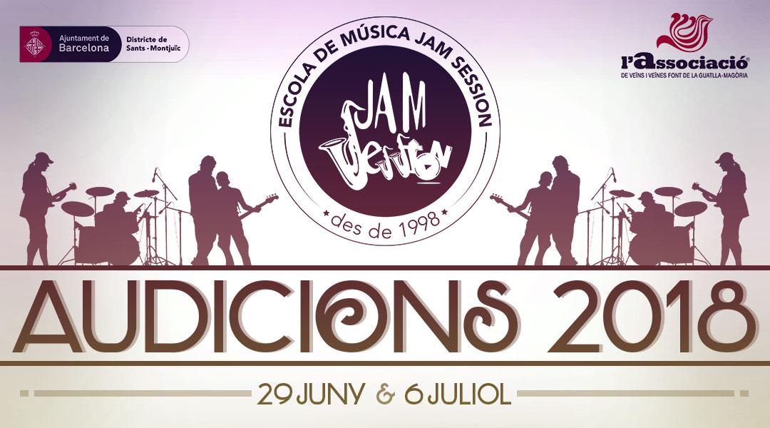 29 JUNY I 6 JULIOL  ✪  AUDICIONS 2018 (Escola de Música)