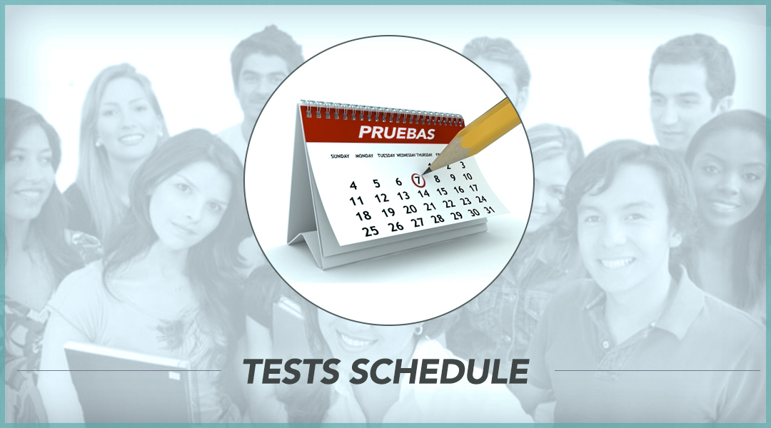 4. Tests schedule