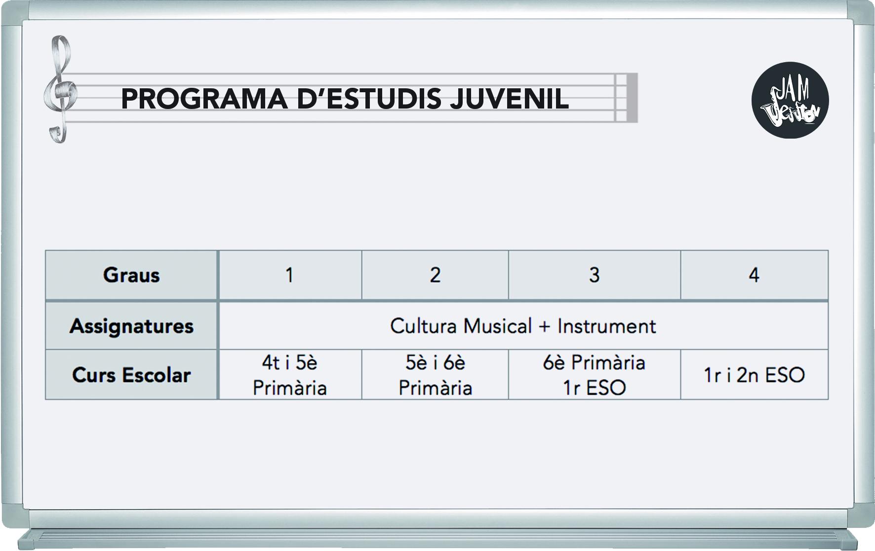 Programa de estudios juvenil (cat) 3