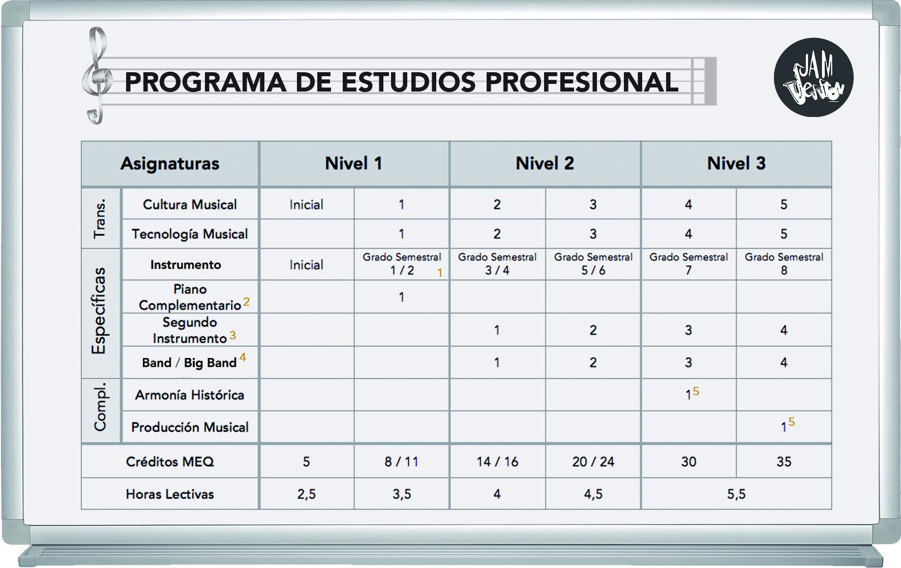 Programa de estudios profesional (cast) 4