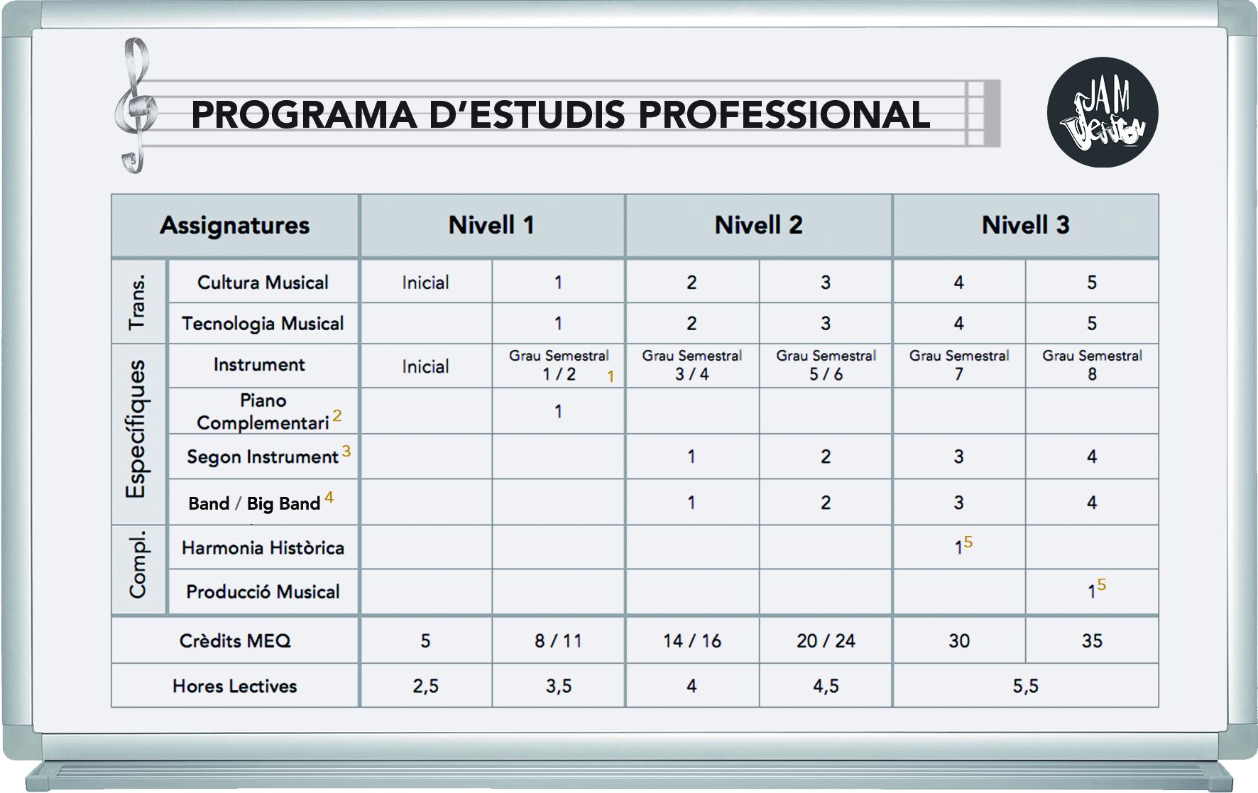 Programa de estudios profesional (cat) 4