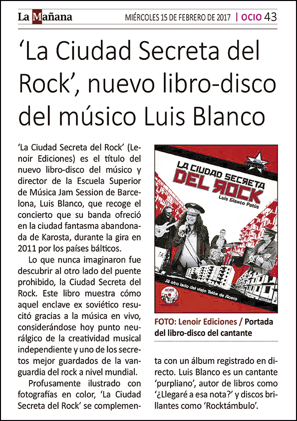 THE SECRET CITY OF ROCK (CD-BOOK) – By Luis Blanco Patús