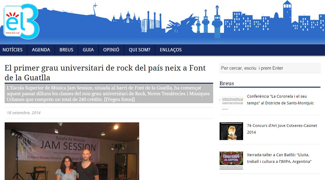 Interview in Sants 3 Radio (19/09/2014)